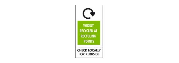 Recycling symbols - Widely recycled at recycling points