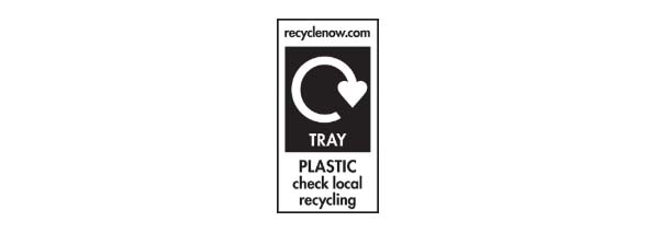 Recycling symbols - check locally