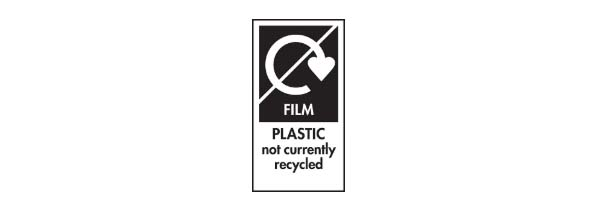 Recycling symbols - not yet recycled