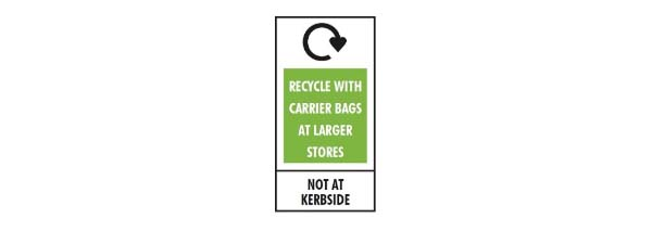 Recycling symbols - recycle with carrier bags